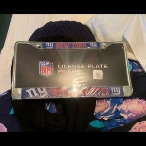 NY Giants license plate frame